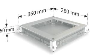 DKF 5 modüler priz kutusu kanal girişli çıkış
